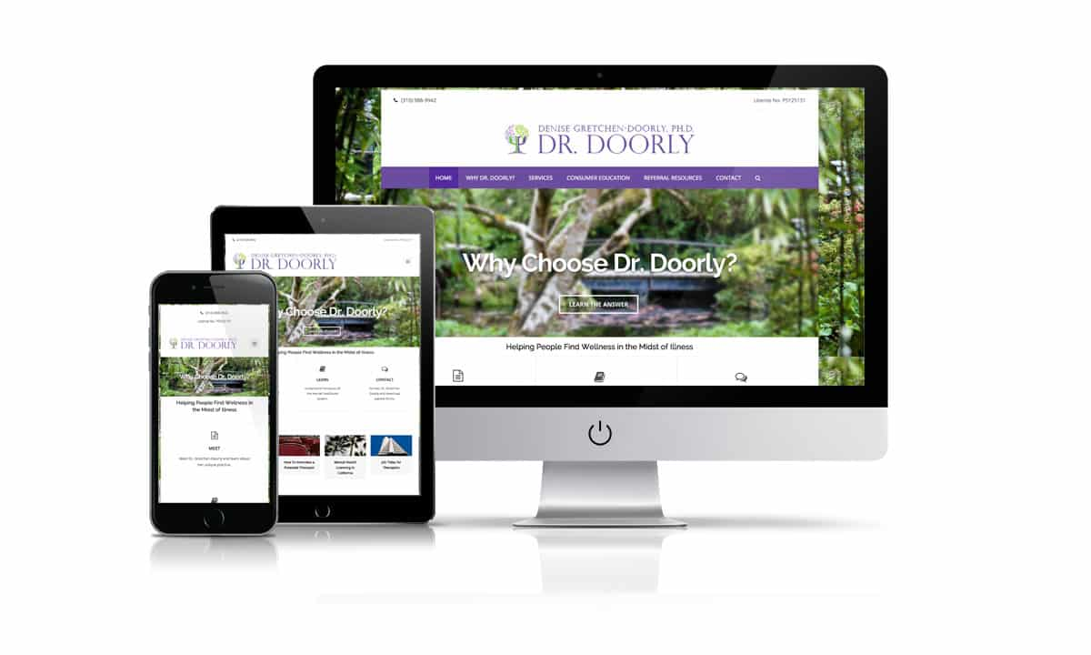 Dr, Gretchen-Doorly website by Shoosrocket
