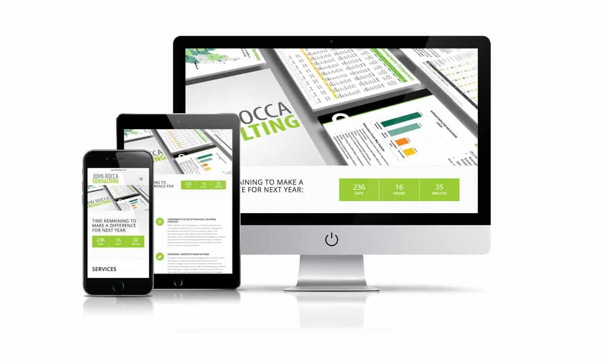John Rocca Consulting website by Shoosrocket